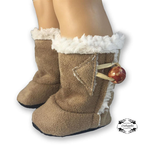 "Cozy Boots 18"" Doll Shoe Pattern"