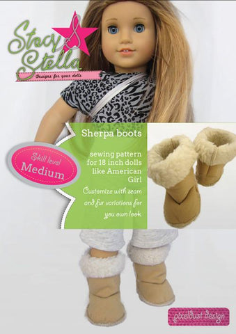 "Sherpa Boots 18"" Doll Shoes"