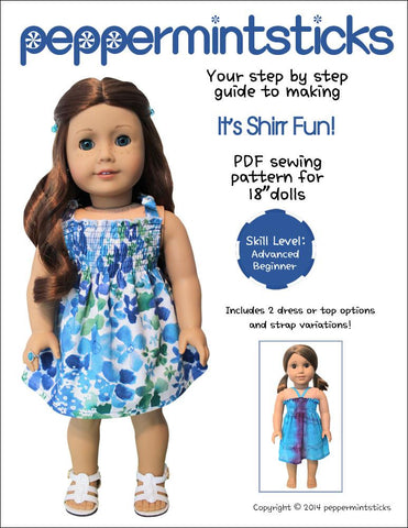"It's Shirr Fun! 18"" Doll Clothes"