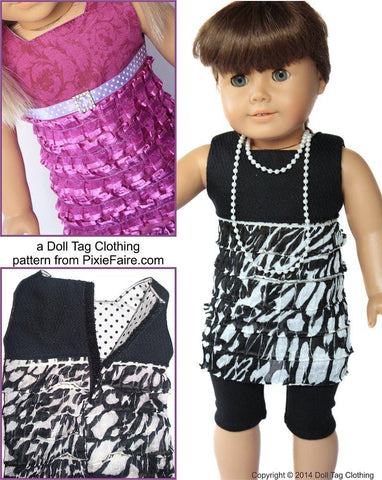 "FREE Simple Ruffle Dress 18"" Doll Clothes Pattern"
