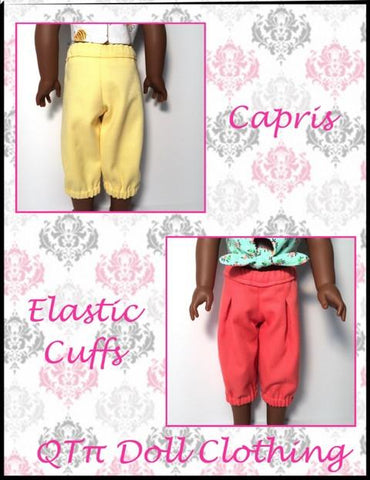 "Simply Pleated Capris and Shorts 14.5"" Doll Clothes Pattern"