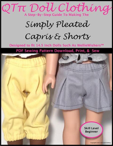 Simply Pleated Capris and Shorts for WellieWishers