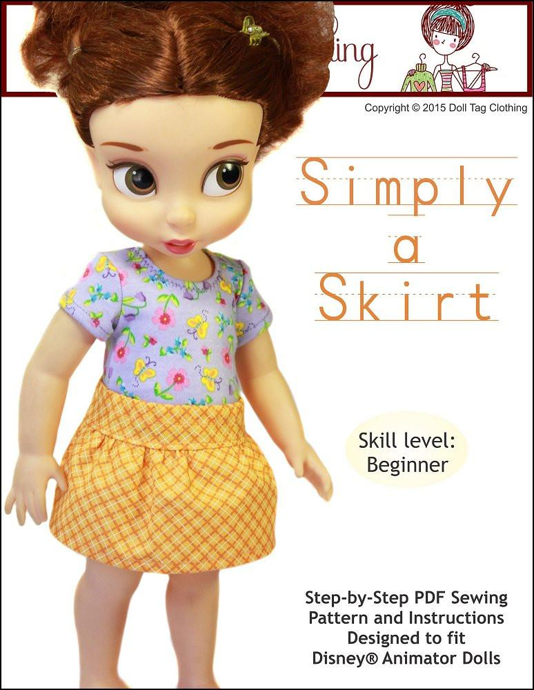 Doll Tag Clothing Simply A Skirt Doll Clothes Pattern Disney ...