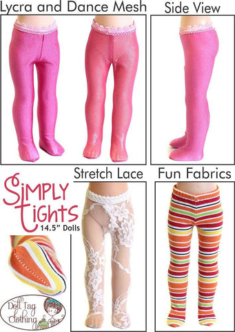 "Simply Tights 14.5"" Doll Clothes Pattern"