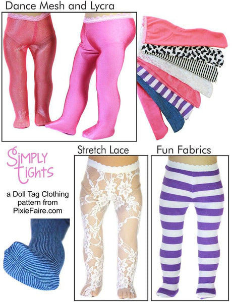 Doll Tag Clothing Simply Tights Doll Clothes Pattern 18
