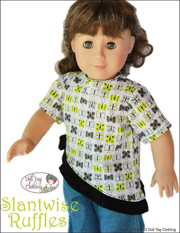 "Slantwise Ruffles Top 18"" Doll Clothes Pattern"