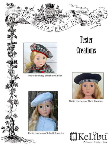 Beret for 16 to 20 inch Slim Dolls