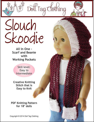 Slouch Skoodie Knitting Pattern