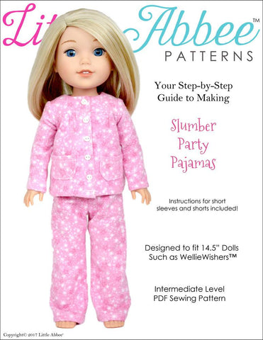 "Slumber Party Pajamas 14.5"" Doll Clothes Pattern"