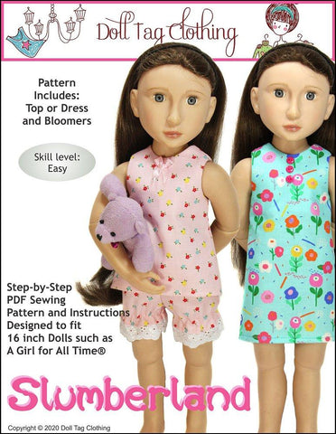 "Slumberland Pattern for 16"" A Girl for All Time Dolls"