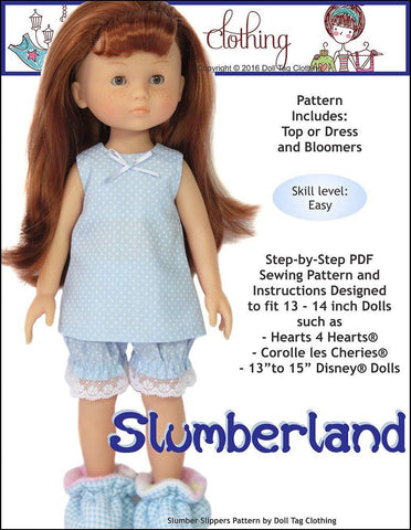 Slumberland Pattern for Les Cheries and Hearts for Hearts Girls Dolls