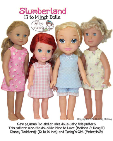 Doll Tag Clothing H4H/Les Cheries Slumberland Pattern for Les Cheries and Hearts for Hearts Girls Dolls Pixie Faire