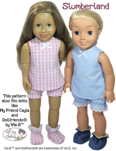 Slumberland Pattern for Journey Girls Dolls