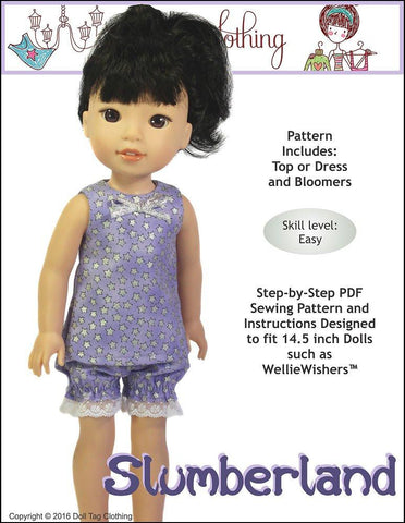 "Slumberland 14.5"" Doll Clothes Pattern"