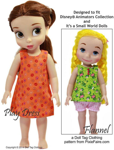 Slumberland Pattern for Disney Animator Dolls