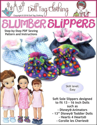 Slumber Slippers For 13 to 16 inch Dolls