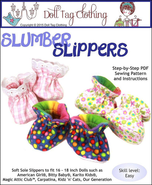 Doll Tag Clothing Slumber Slippers Doll Clothes Pattern 18