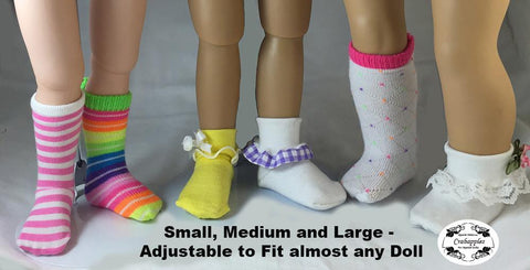 Sock It To Me Pattern For Multiple Sized Dolls