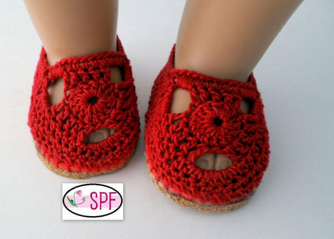 "Sofia Crocheted 18"" Doll Shoes"
