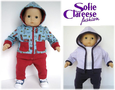 "Sofie's Baby Hooded Cardigan Set 15"" Doll Clothes"