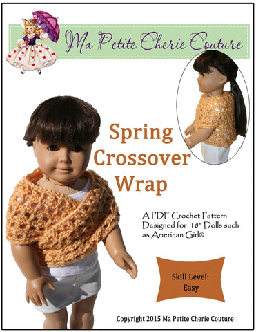 Spring Crossover Wrap Crochet Pattern