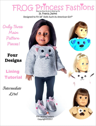 "Frog Princess Fashions 18 Inch Modern St Francis Jacket 18"" Doll Clothes Pattern Pixie Faire"