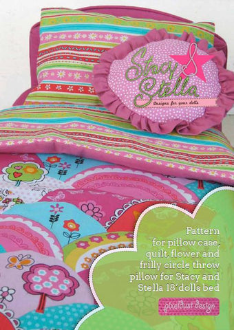 "Stacy and Stella 18 Inch Modern Bedding for 18"" Dolls Pixie Faire"