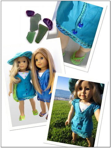 "Beach Cover Up 18"" Doll Clothes Pattern"