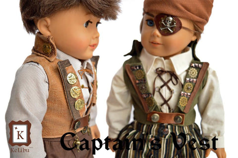 "Steampunk Pirate Bundle 18"" Doll Clothes"