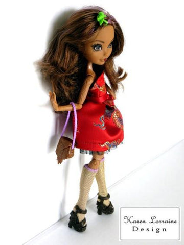 Stepping Out Pattern for Ever After High and Monster High Dolls