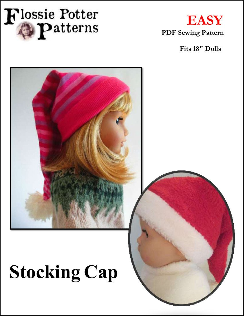 Flossie Potter Stocking Cap Doll Clothes Pattern 18 inch American ...