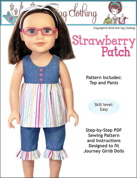 Doll Tag Clothing Strawberry Patch Doll Clothes Pattern