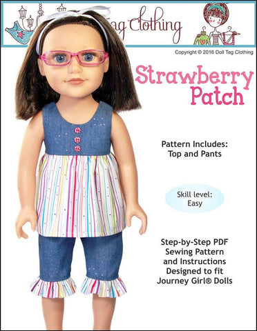 Strawberry Patch Pattern for Journey Girls Dolls