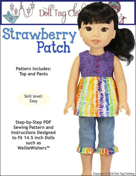 Doll Tag Clothing Strawberry Patch Welliewishers Doll