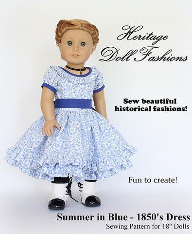 1850 Doll clothes Pattern American Girl Doll