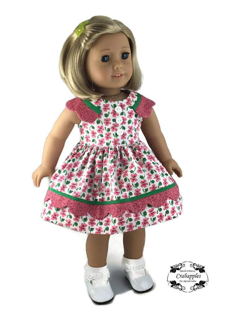 Crabapples Sunday Best Pattern For 18 Inch Dolls Such As