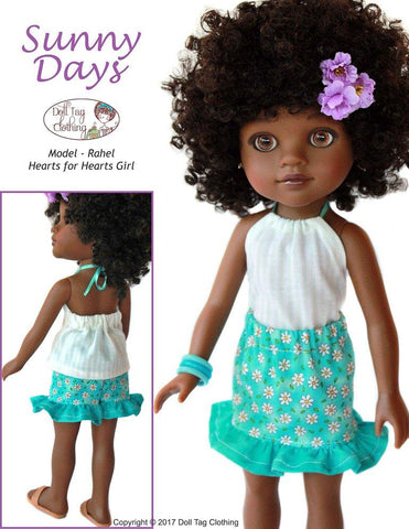 Sunny Days Skirt and Top 14 to 14.5 inch dolls
