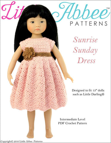 Sunrise Sunday Dress for Little Darling Dolls