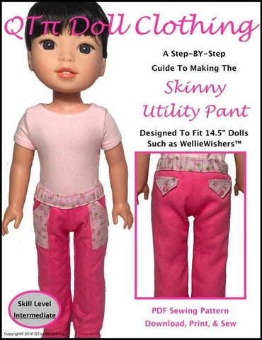 Skinny Utility Pants for WellieWishers Dolls