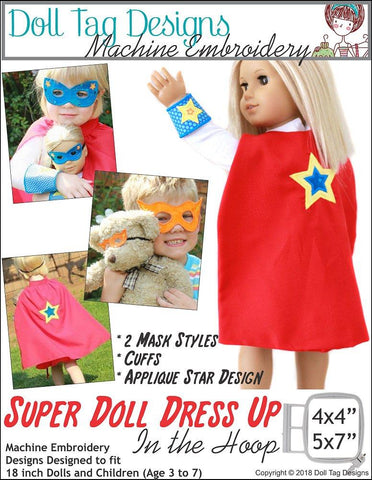 Super Doll Dress Up Machine Embroidery Designs