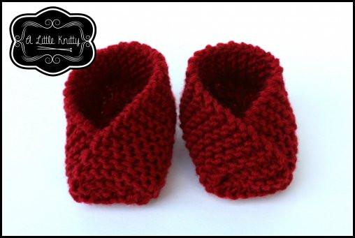 A Little Knitty Susie Slippers Doll Clothes Knitting Pattern 18 Inch