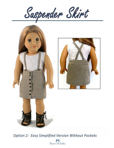 "Suspender Skirt 18"" Doll Clothes"