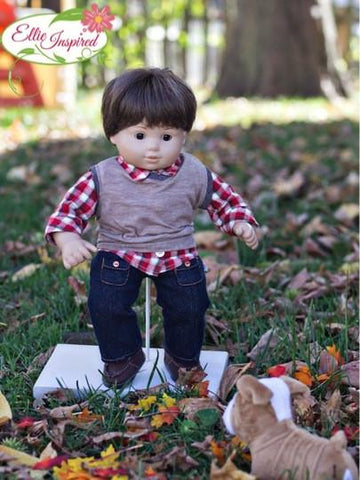 "Mini Study Hall Sweater 15"" and 18"" Doll Clothes"
