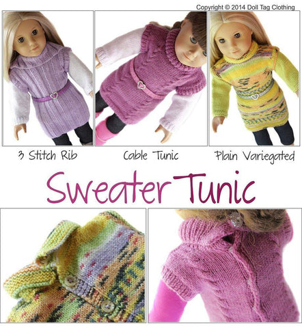 Sweater Tunic Knitting Pattern