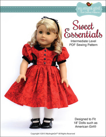 Holiday Dresses For 18 Inch Dolls Such As American Girl | Pixie Faire
