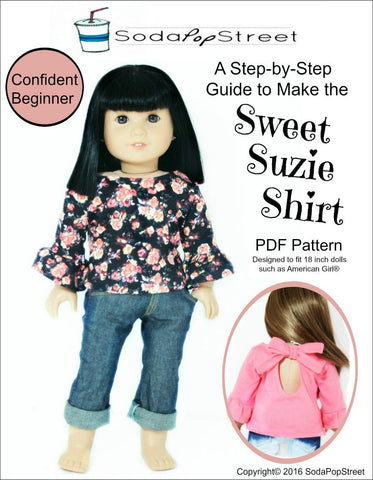 "Sweet Suzie Shirt 18"" Doll Clothes"
