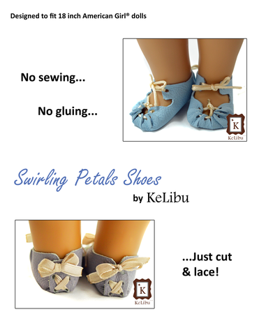 "Swirling Petals Shoes 18"" Doll Shoes"