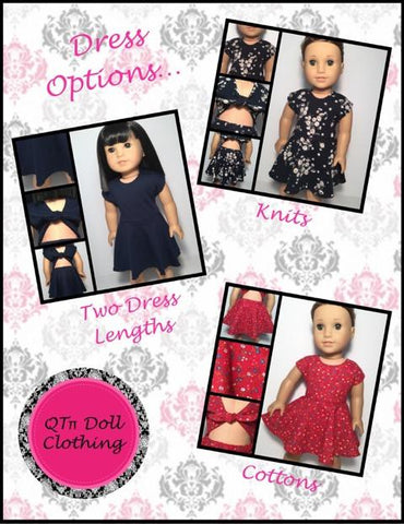 "Tie Back Romper and Dress 18"" Doll Clothes"