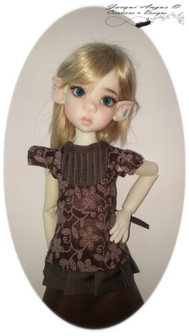 Tea Time Blouse Pattern for MSD Ball Jointed Dolls