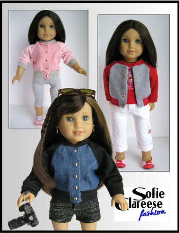 "Sofie's Team Jacket 18"" Doll Clothes Pattern"